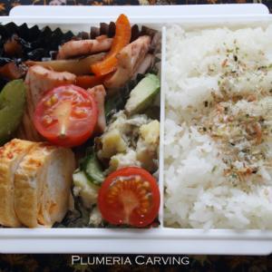 イカとセロリの塩炒めのお弁当