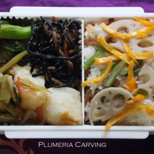 カラスカレイの野菜あんかけのお弁当