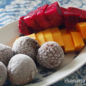 朝の東南アジアフルーツ