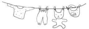 干された犬と猫