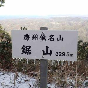 雪が残る鋸山トレイル16km