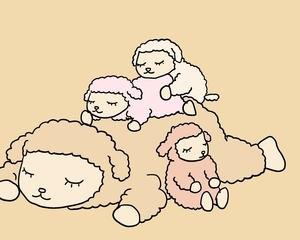 ひつじのメイプル イラスト めいちゃんと子どもたち