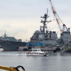 海自と米海軍と警察のコラボ