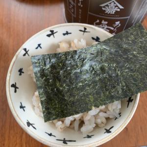美味しい海苔で食べるご飯♫