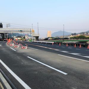 7月19日道路情報 国道2号線 中野東 平原橋】【ポプラまで前進してください】
