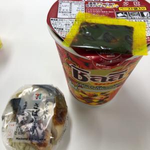 焼きサバ寿司とトムヤンクンヌードル