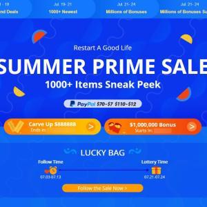 【Banggood】2020 Summer Prime Saleのお知らせ【🌞夏のセール】