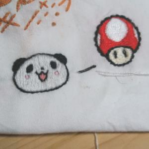 刺繍 × 楽天パンダ