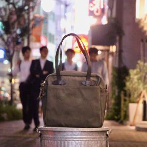 """袖の季節 """"FILSON TOTE BAG WITH ZIPPER"""""""