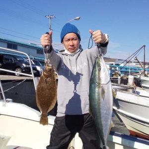 鳴門海峡にてアジの泳がしでゲット