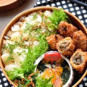 ♡今日のお弁当♡じゃが芋とたらこの牛乳炊き込みご飯♡レシピあり♡