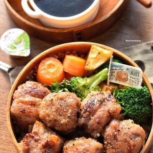♡今日のお弁当♡牛薄切り肉&厚揚げdeサイコロステーキ風♡レシピあり♡