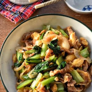 【5分de完成】♡豚バラと小松菜の旨ダレ炒め♡レシピあり♡