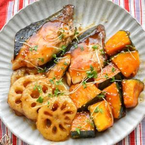 【のっけ弁】♡ブリの酢てりやき根菜付き♡レシピあり♡