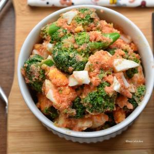 【丼+1品弁当】♡ブロッコリーと卵の明太マヨサラダ♡レシピあり♡