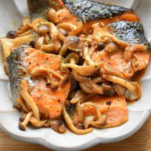 【2品弁当】♡生鮭とキノコのはちみつバター醤油焼き♡レシピあり♡