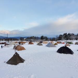 ギリギリの雪中キャンプよりより