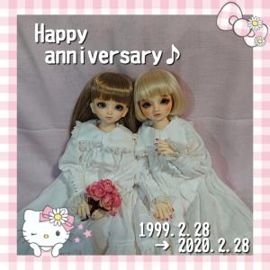 2/28(金)の徒然#Happy anniversary♪