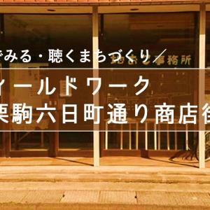 \現地でみる・聴くまちづくり/フィールドワーク @栗駒六日町通り商店街