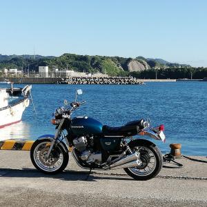 CB400four × 江口漁港 & Dcafe