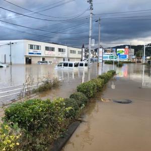 福島市内、水没しました。