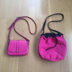 ピンクのバッグを買い替え。最小限+余白を持とう。