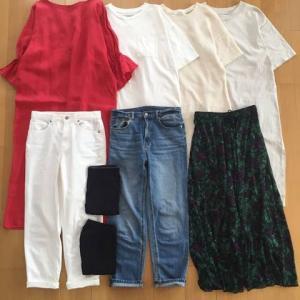 2019、夏に着た服の数9着。