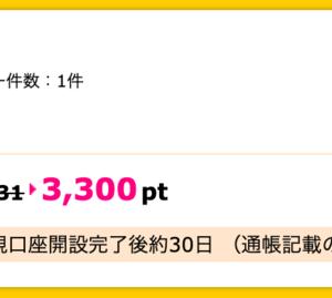 【ハピタス】auカブコム証券 新規口座開設で期間限定3,300pt(3,300円)! 取引不要♪