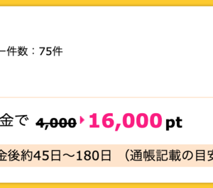 【ハピタス】SBI証券 新規口座開設+入金で16,000pt(16,000円)!! 取引不要♪