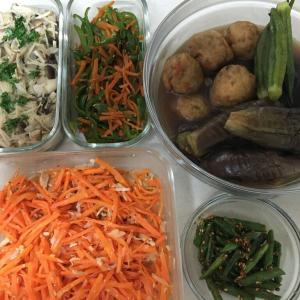 今週の作りおきと、今日のひとりお昼ごはん