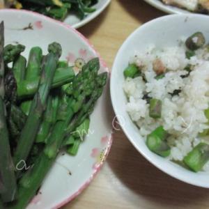 アスパラガスの炊き込みご飯で旬を味わう♪とっても簡単でおいしい