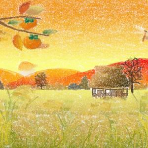 本日のPC教室にて アートレイジで風景画(秋)