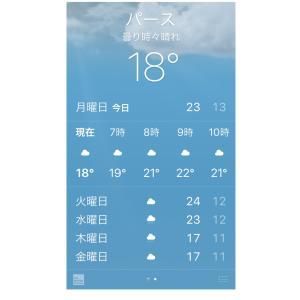 昨日36度、今は18度、寒いパースの朝。