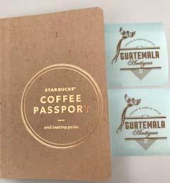 スターバックスでもらったコーヒーパスポート