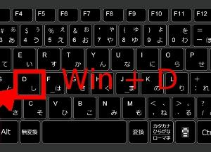 Widowsパソコン デスクトップ表示のショートカットキー