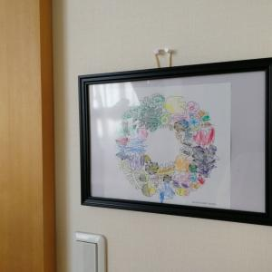 [家ごもり中の子どもとの時間] バーズワーズBIRDS' WORDSのフリー塗り絵(Color Your Wreath)