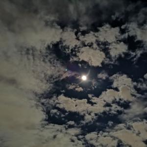 月と現実と。