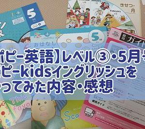 【ポピー英語】7歳児がレベル3(5月号)をやってみた内容・感想