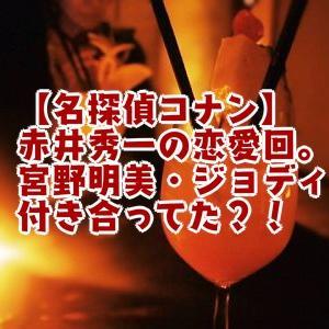 【コナン】赤井秀一の恋愛回。宮野明美・ジョディと付き合ってた?!