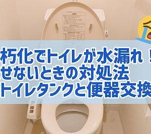 トイレが水漏れ!水洗が使えないときの流し方~トイレタンクと便器の交換~