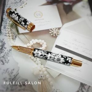 ポーセラーツで作るボールペン!エレガントでゴージャスな重厚感のあるプレゼント♪