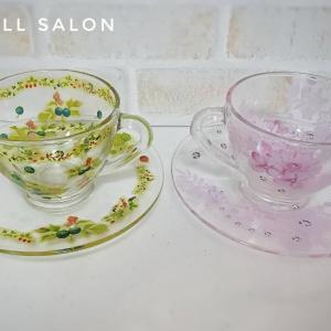 ガラスのカップ&ソーサー3つご紹介。カバーコートが消えてどれも美しく完成!