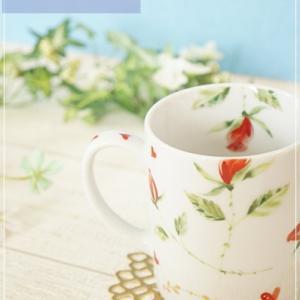 これが体験作品!?真っ白なマグカップに、赤いバラとハートが映える♡可愛すぎるマグカップ♡