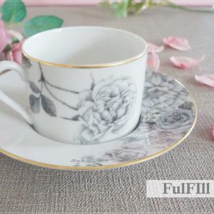 ポーセラーツで作るプレゼント♡手作りに見えない完成度!バラのカップ&ソーサー