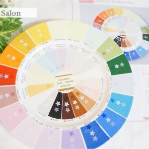 ポーセラーツ資格課題① 完成後の実用性は抜群の色見本。作品の色決めの必需品♪