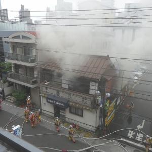 我がマンションの目の前の家が火事!