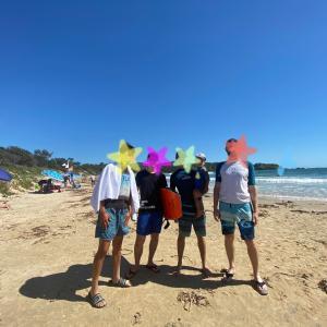 コフス五日目 Diggers beachで海水浴