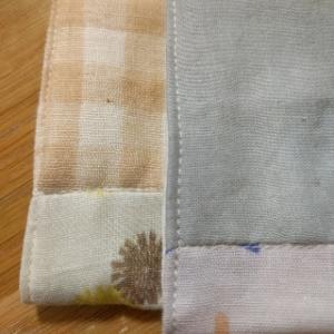 ハンカチの縫いズレ