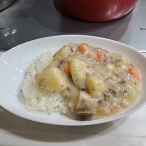 御飯にシチューは邪道なのか🍀追い明太でゲテモノ食い冒険レシピw