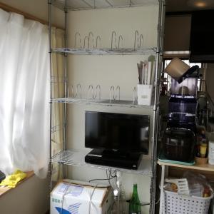 【整理収納作業PART3】ダイニングはスチールラックで壁面収納